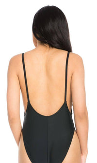 Squad High Cut One Piece Swimsuit in Black (S-XL) - SohoGirl.com