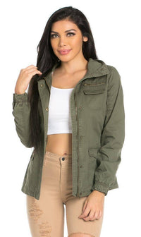 Utility Trench Coat in Olive (Plus Sizes Available)