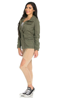 Utility Trench Coat in Olive (Plus Sizes Available) - SohoGirl.com