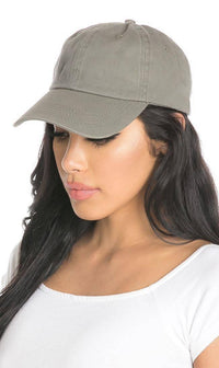 Vintage Cotton Baseball Cap in Gray