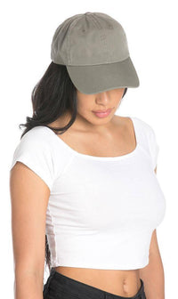 Vintage Cotton Baseball Cap in Gray - SohoGirl.com