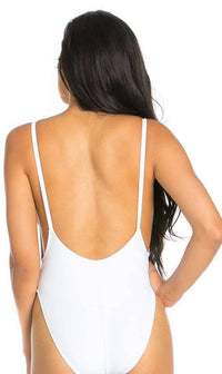 Bride High Cut One Piece Swimsuit in White (S-XL) - SohoGirl.com