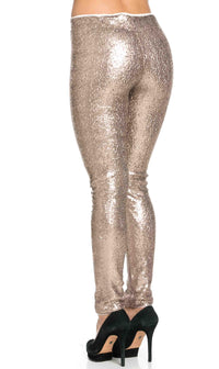 Gold Allover Sequin Party Pants (Plus Sizes Available)