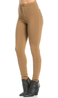 Super High Waisted Stretchy Skinny Jeans in Mocha (S-XXXL)
