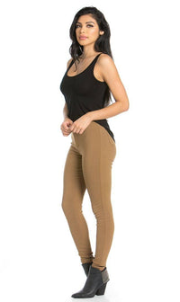 Super High Waisted Stretchy Skinny Jeans - Mocha (S-XXXL) - SohoGirl.com