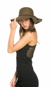 Solid Floppy Hat in Olive - SohoGirl.com