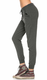 Classic Drawstring Jogger Pants in Charcoal