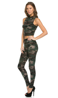 G.I. Jane High Waisted Camouflage Leggings (Plus Sizes Available) - SohoGirl.com