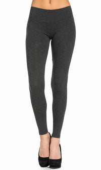 Plus Size Basic Cotton Leggings in Grey - SohoGirl.com
