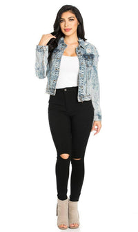 Super High Waisted Knee Slit Skinny Jeans - Black - SohoGirl.com