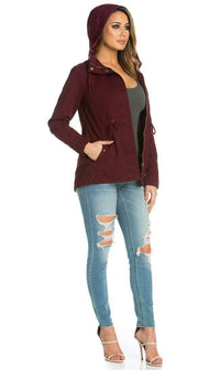 Hooded Parka Coat in Burgundy (Plus Sizes Available S-3XL) - SohoGirl.com