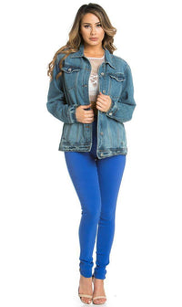 Dark Blue Not Your Girl Denim Jacket - SohoGirl.com