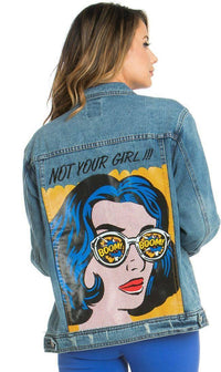 Dark Blue Not Your Girl Denim Jacket