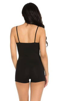 Sleeveless Camisole Romper in Black - SohoGirl.com