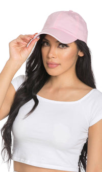 Vintage Cotton Baseball Cap in Pink - SohoGirl.com