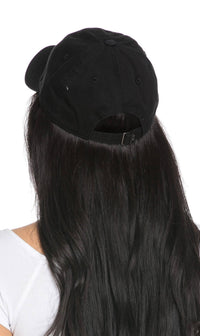 Vintage Cotton Baseball Cap in Black - SohoGirl.com