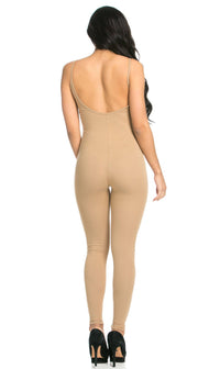 Pinch Front Camisole Unitard in Nude (XL-XXXL)