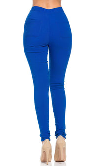 Super High Waisted Stretchy Skinny Jeans (S - 3XL) - Royal Blue - SohoGirl.com
