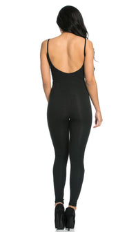 Pinch Front Camisole Unitard in Black (XL-XXXL)