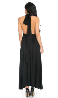 Multiway Slinky Maxi Dress in Black - SohoGirl.com