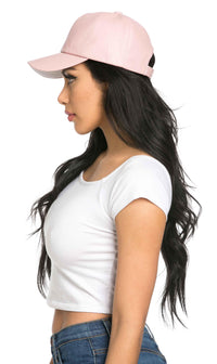 Solid Faux Leather Cap in Pastel Pink