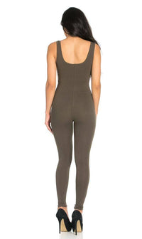 Sleeveless Catsuit in Olive - SohoGirl.com
