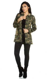 Long Sleeve Button Up Distressed Shirt in Camouflage (S-3XL) - SohoGirl.com