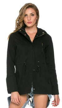 Hooded Parka Coat in Black (Plus Sizes Available) - SohoGirl.com