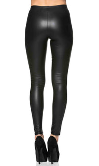 Everyday Faux Leather Leggings in Black (Plus Sizes Available) - SohoGirl.com
