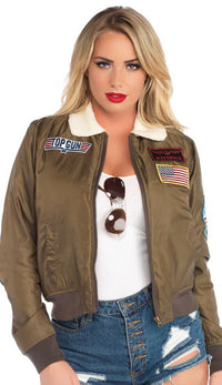 Top Gun Patched Bomber Jacket