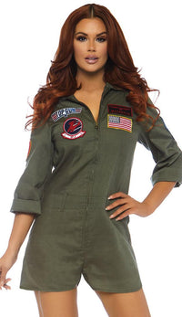 Top Gun Romper Flight Suit