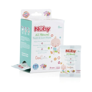 Nuby All Natural Baby Tooth and Gum Wipes (36 count)