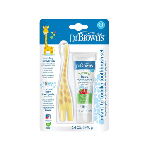 Dr. Brown's Infant-to-Toddler Toothbrush Set (Giraffe)