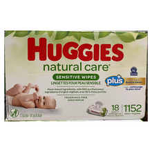 Load image into Gallery viewer, Huggies Natural Care Sensitive Baby Wipe (Fragrance free)
