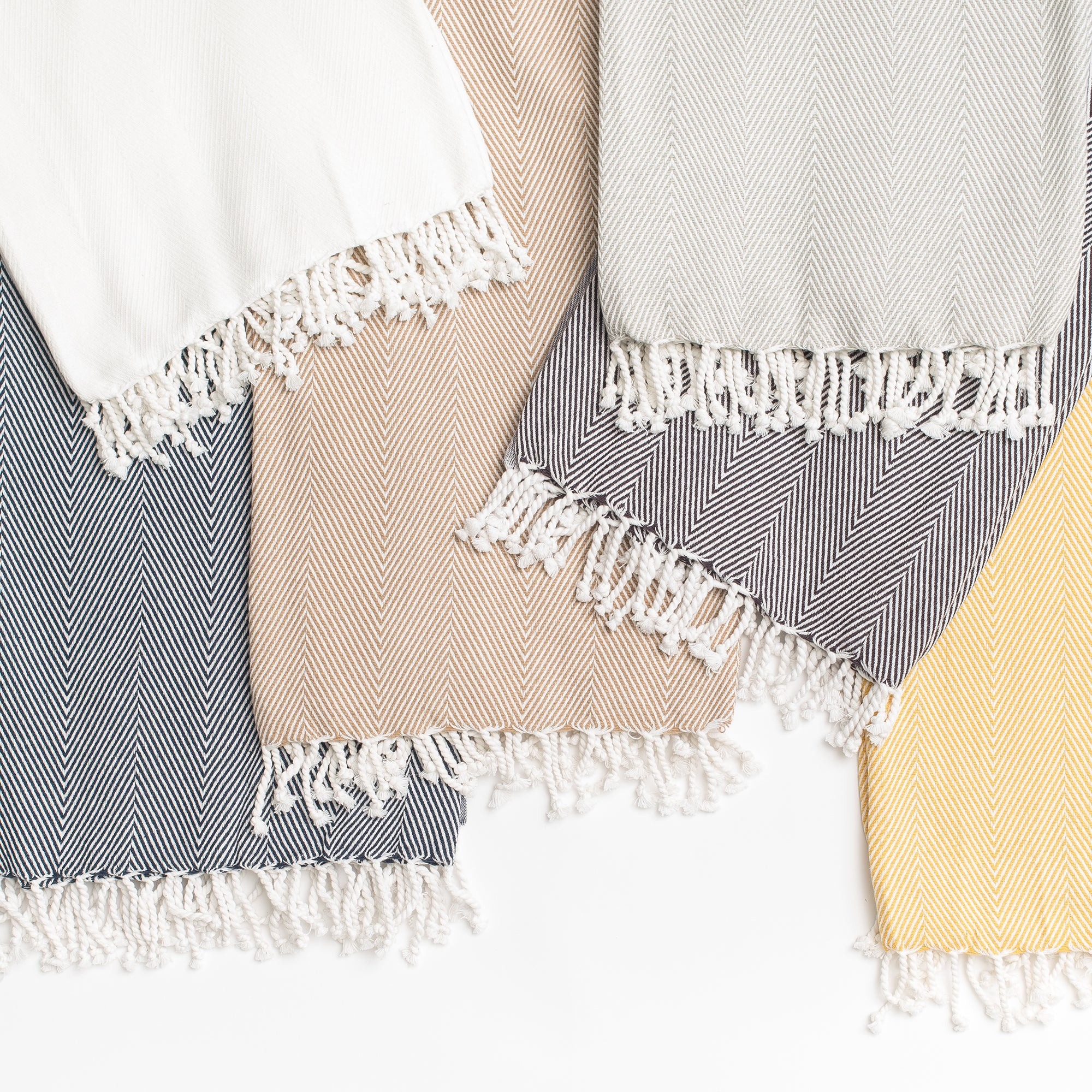 Herringbone Throw - White