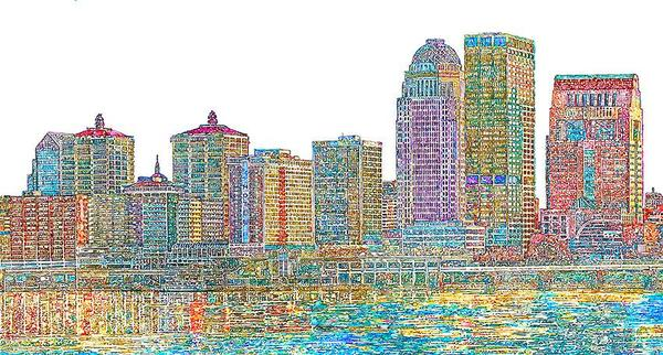 Paul Reynolds - Small Louisville Skyline