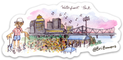 Bri Bowers - Waterfront Park Watercolor Sticker