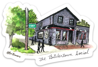 Bri Bowers - Butchertown Social Watercolor Sticker