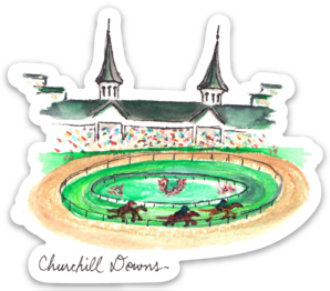 Churchill Downs watercolor sticker by Bri Bowers