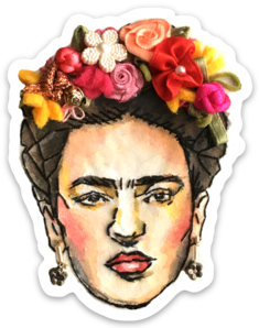 Frida Embroidery Sticker by Bri Bowers