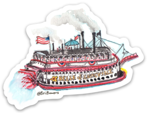Bri Bowers - Belle Of Louisville Watercolor Sticker