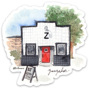 Bri Bowers - Zanza Bar Watercolor Sticker
