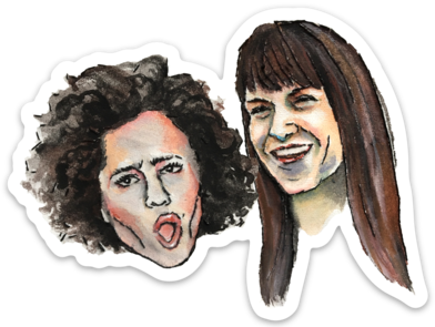 Broad City watercolor sticker by Bri Bowers