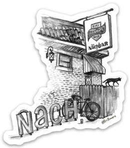Bri Bowers - Nach Bar Watercolor Sticker