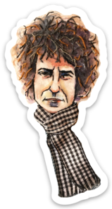 Bob Dylan Watercolor sticker by Bri Bowers