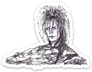 Maya Joy - Mountain Portrait David Bowie Sticker
