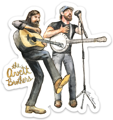 Avett Brothers watercolor sticker by Bri Bowers