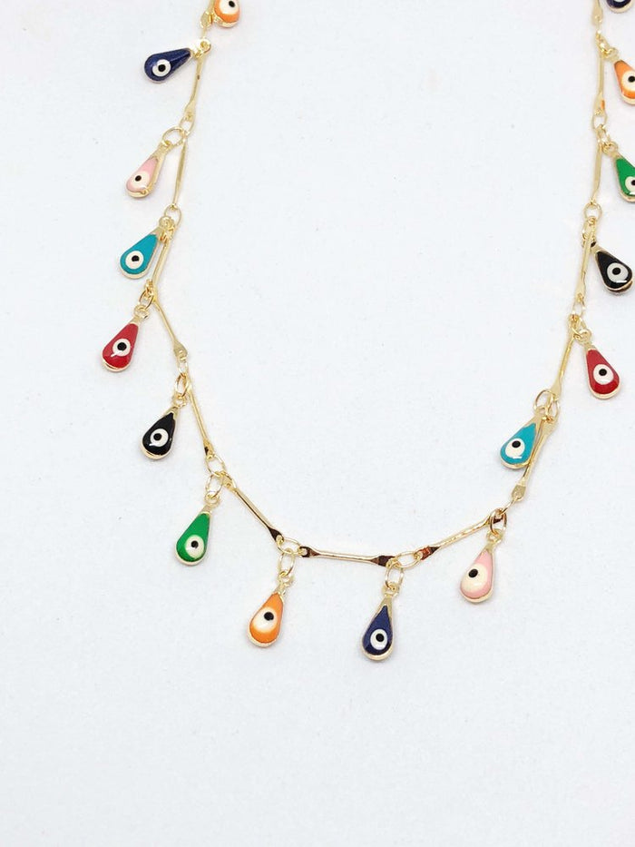 Finds Designs Multi Evil Eye Choker