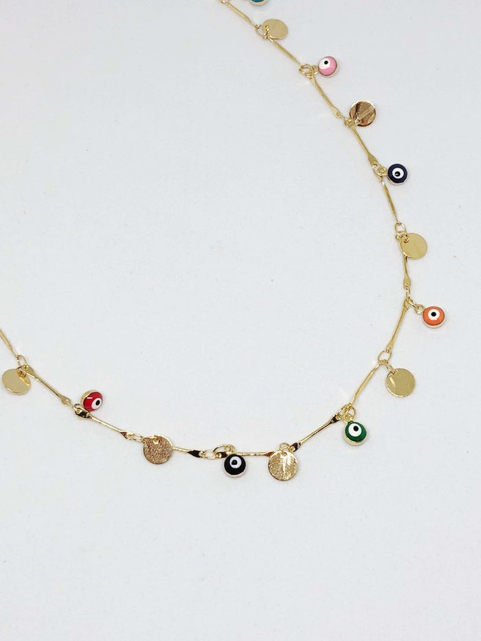 Finds - Evil Eye Choker w/ Gold Coins
