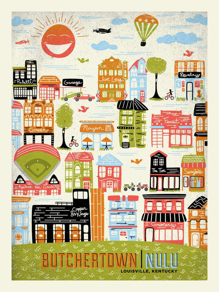 Ron Jasin - Nulu / Butchertown Print